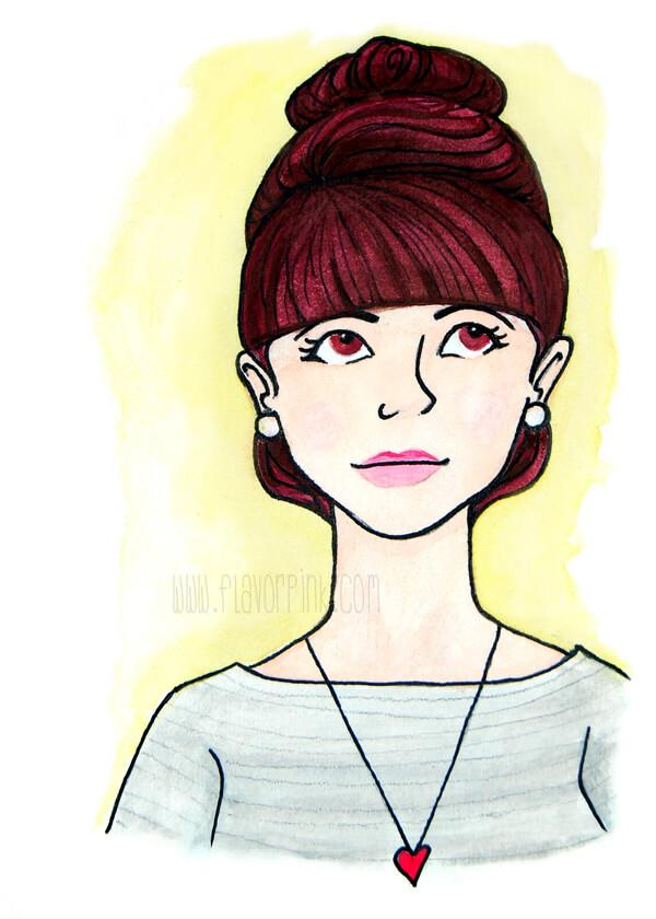 ATC Watercolor Portrait