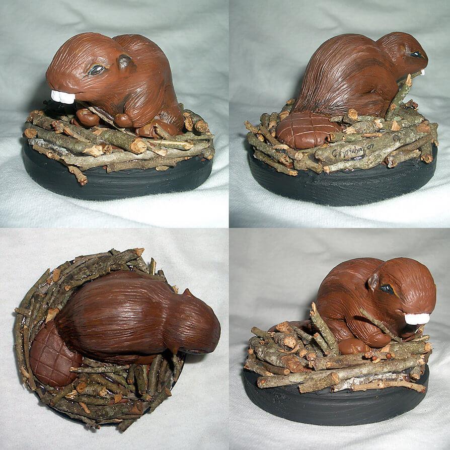Beaver Sculpture