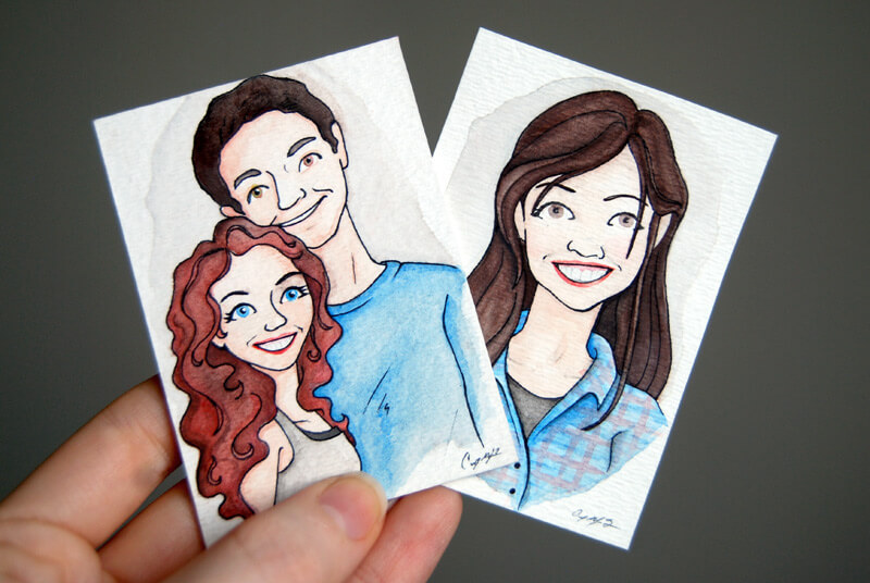 Mini watercolor painting