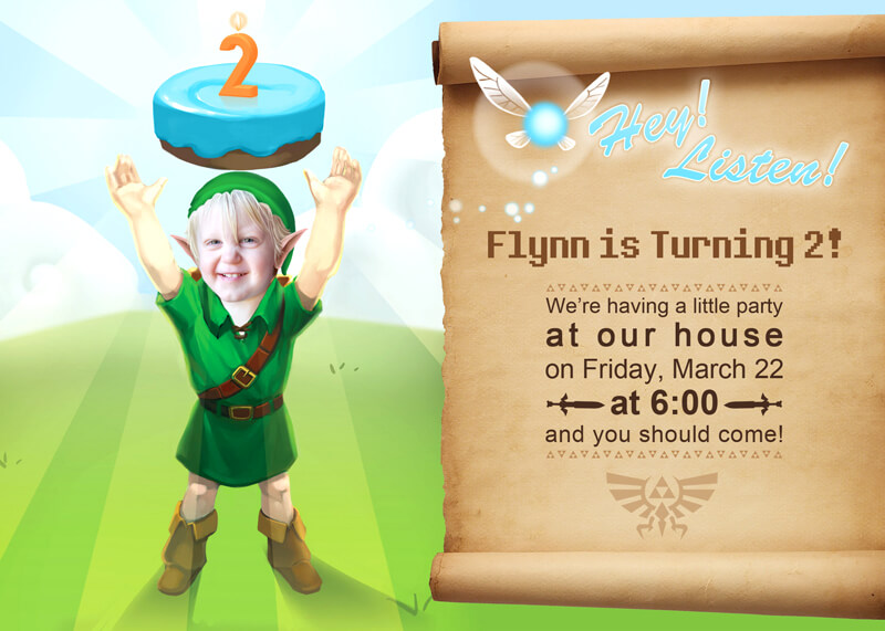 Zelda party invitation