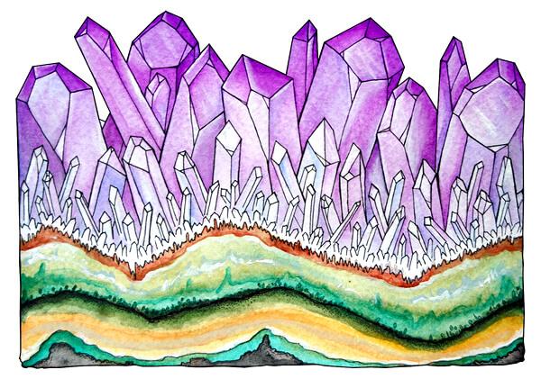 watercolor amethyst